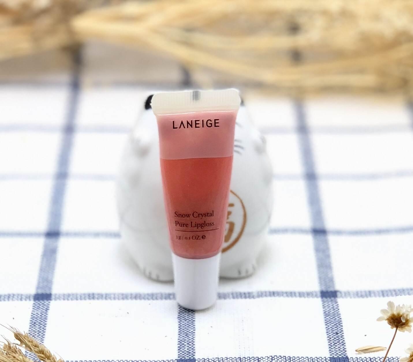 Laneige Snow Crystal Pure Lipgloss #Veil Rose 3 g. แบบหลอดบีบ
