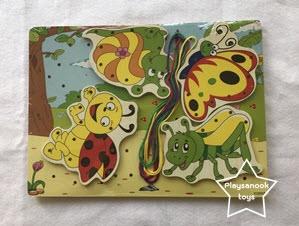 PS-2012 กระดานร้อยเชือกแมลงน่ารัก