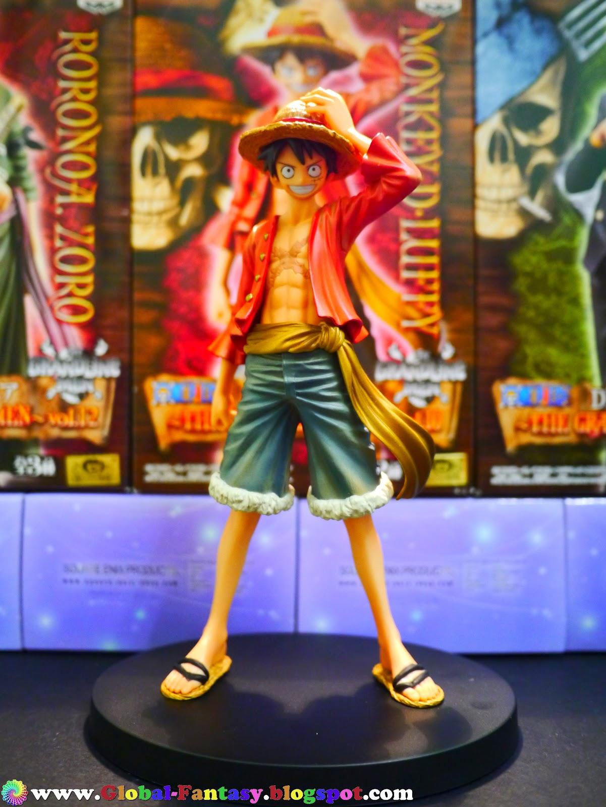 Luffy ของแท้ JP แมวทอง - Grandline Men Banpresto DX [โมเดลวันพีช] (Rare)