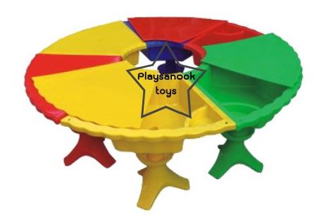 SPT-1368B โต๊ะสามัคคีเล่นทรายน้ำ มีฝาปิด