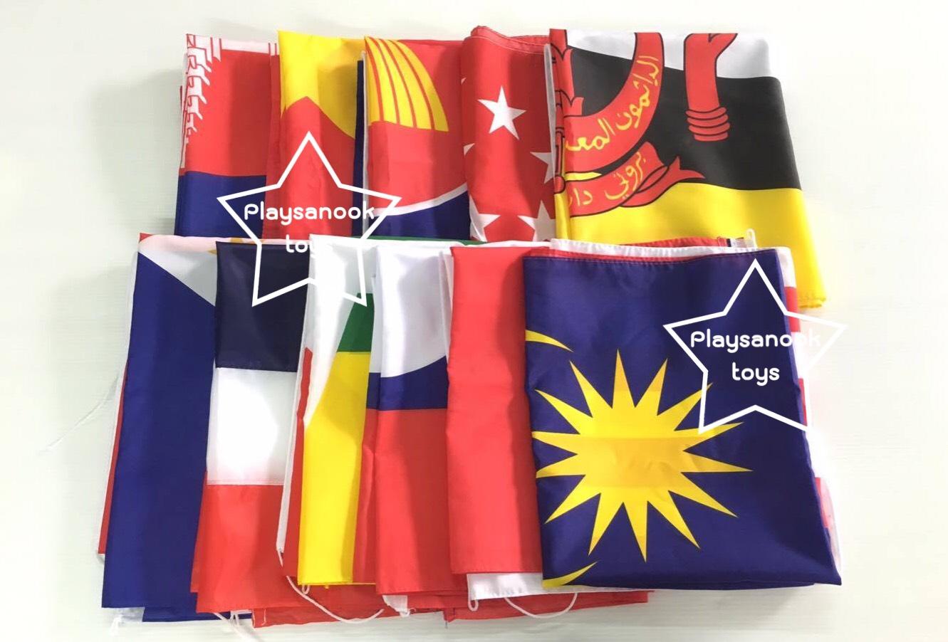 PF-007 ชุดธงอาเซียนเบอร์6 60x90 สกรีน