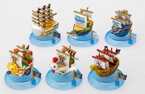 One Piece Mini Ship Set ของแท้ JP แมวทอง - Banpresto [โมเดลวันพีช] (6 ลำ)