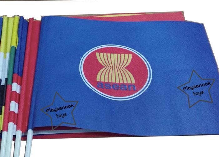 PF-003 ธงโบกกระดาษอาเซียน ราคา/โหล