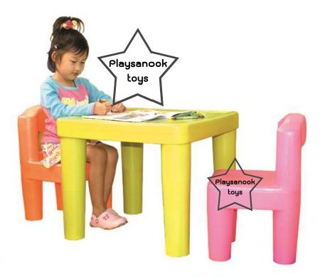 PPT-007 โต๊ะคิดดี้พร้อมเก้าอี้คิดดี้ 2 ตัว