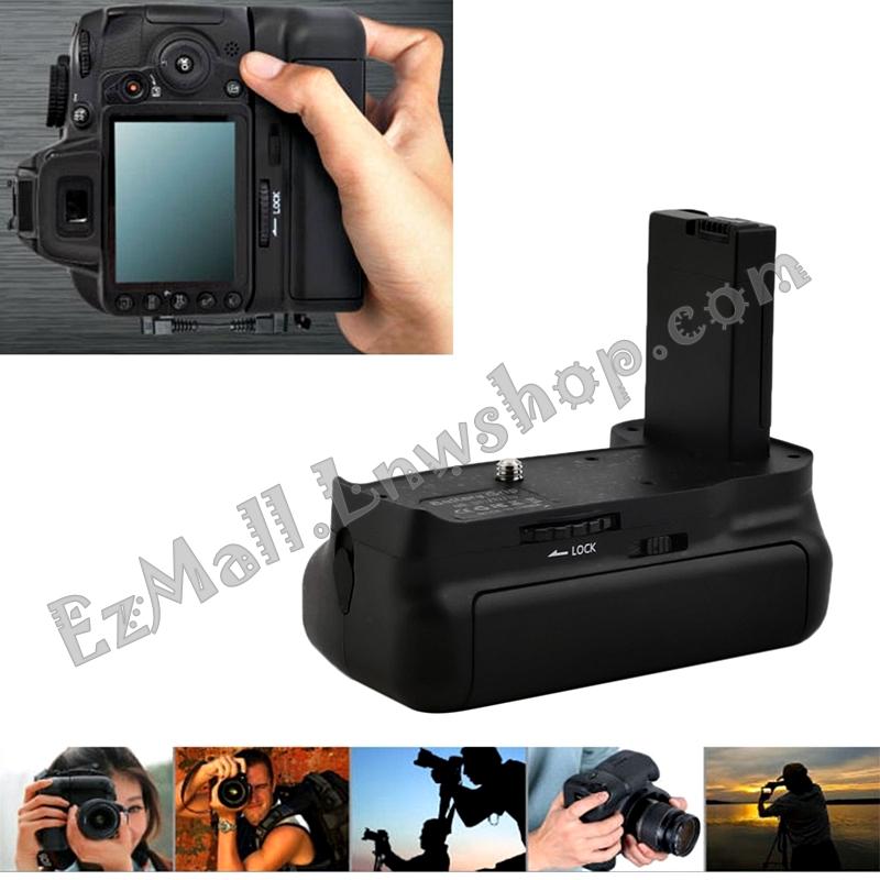 แบ็ตเตอรี่กริ๊ป(Battery Grip) สำหรับกล้อง DSLR Nikon D3100, D3200, D3300 - BG-2F Vertical Battery Grip Holder for Nikon D3100, D3200, D3300