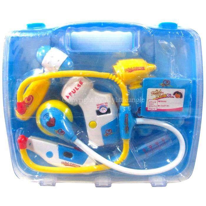 ชุดกระเป๋าคุณหมอมีเสียงมีไฟ พร้อมส่งสีฟ้า และ ชมพู ส่งฟรี
