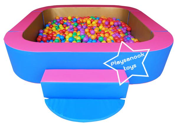 EVB-03-1 บ่อบอลสี่เหลี่ยมมุมโค้ง พร้อมลูกบอล 1000 ลูก