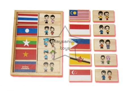 SKAEC-18 โดมิโนธงชาติอาเซียน