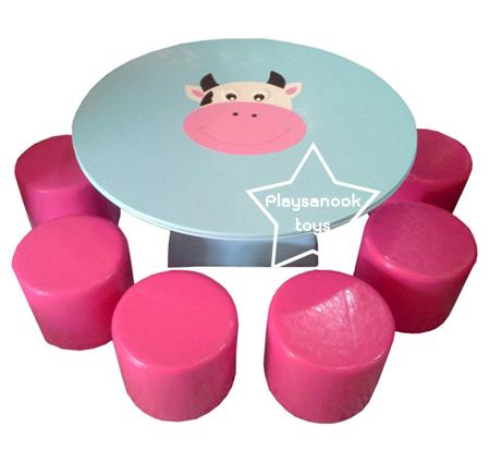EVF-16 ชุดโต๊ะวัวใหญ่-เก้าอี้ลูกกวาด