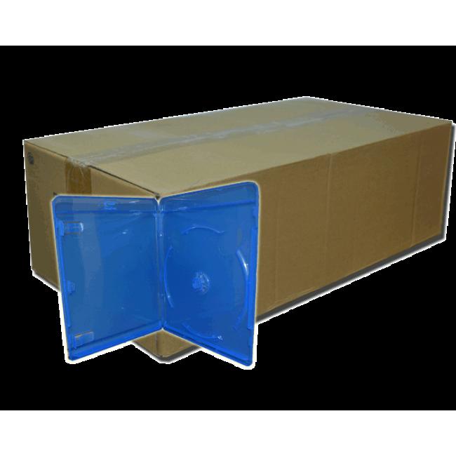 กล่อง Bluray น้ำเงิน เกรด A (หนา) 1 ลัง 100 กล่อง (ส่งแบบพัสดุไปรษณีย์)