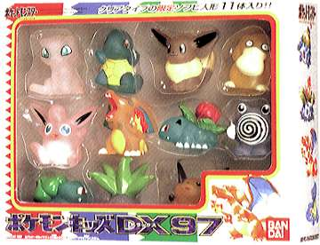 Pokemon Kids Set สวมนิ้ว ของแท้ JP - Bandai [โมเดลโปเกมอน] (11 ตัว)