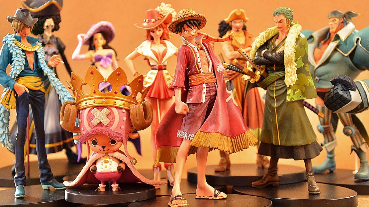 Straw Hat Pirates 15th Set ของแท้ JP แมวทอง - Grandline Men / Lady Banpresto [โมเดลวันพีช] (Rare) 9 ตัว