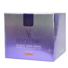 ครีม V2 Revolution Wonder Night Repair 15กรัม 1 กระปุก
