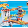 รถ Hot Wheels Speedtropolis 3-Level Adventure City Playset ส่งฟรี