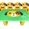 EVF-19 โต๊ะเก้าอี้ครอบครัวสุนัข