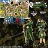 Luffy & Zoro Military Style Set ของแท้ JP แมวทอง - Ichiban Kuji Banpresto [โมเดลวันพีช] (Rare) 2 ตัว