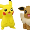 Pikachu & Evee ของแท้ JP - Takara Tomy Moncolle EX [โมเดลโปเกมอน] ( 2 ตัว )