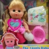 พร้อมส่งตุ๊กตาดูดนม The lovely baby ฉี่ได้ด้วย พร้อมอุปกรณ์