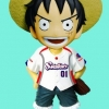 Luffy Baseball ของแท้ JP แมวทอง - Bobbing Head Plex [โมเดลวันพีช]
