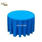 ผ้าปูโต๊ะกลม สีฟ้า