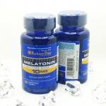 PURITAN'S PRIDE หลับยากหรอ ง่ายนิดเดียว MELATONIN 10 mg โดสสูง วิตามิน ที่ช่วยให้หลับได้เร็ว หลับลึกทั้งคืน ไม่สะดุ้งตื่นระหว่างคืน สำหรับคนนอนหลับยาก ขนาดบรรจุ 60 เม็ด Capsule