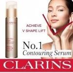 Clarins Shaping Facial Lift Total V Contouring Serum ขนาดปกติ 50 ml (No box) เซรั่ม หน้าวี ไม่ต้องพึ่งโบท็อคซ์ เซรั่มกระชับผิวหน้า เนื้อเนียนบางเบา เผยผิวหน้าที่ดูใสกระจ่างและได้รูป ด้วยคุณสมบัติในการยกกระชับผิว พร้อมปกป้องผิวจากจุดด่างดำ และช่วยให้ใบหน้า