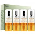 Clinique Fresh Pressed Daily Booster with Pure Vitamin C 10% ขนาด 8.5ml*4ชิ้น วิตามินซีสกัดเข้มข้น สำหรับทุกสภาพผิว ชะลอการเกิดริ้วรอย ปลอบประโลมผิว คืนความสว่าง กระจ่างใส ปรับสีผิวให้สม่ำเสมอ ลดเลือนจุดด่างดำ กระ ฝ้า ฟื้นฟูผิวจากความร่วงโรย คืนความกระชับ