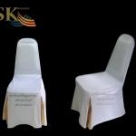 ผ้าคลุมเก้าอี้ทรงเอ แบบจีบทวิสสี่มุมแต่งสี(ทวิส)