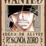 Zoro Wanted - Jigsaw One Piece ของแท้ JP (จิ๊กซอว์วันพีช)