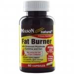 Mason Naturals, Fat Burner with Chromium Picolinate, L-Carnitine and Iron, 60 Capsules ผลิตภัณฑ์เสริมอาหารตัวนี้ สามารถช่วยคุณ เร่งการเผาผลาญไขมันใหม่ได้มากกว่าปกติถึง ออกฤทธิ์ ได้ตลอดวัน แม้ในขณะคุณหลับก็สามารถ เผาผลาญไขมันใหม่ๆ ที่กินเข้าไปในแต่ละมื้อ โ