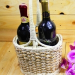 S5-3 ทีใส่ขวดไวน์แนวตั้งคู่