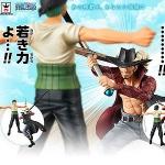 Zoro & Mihalk ของแท้ JP แมวทอง - Banpresto Dramatic Showcase [โมเดลวันพีช] (2 ตัว)