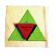 TY-2021 ถาดไม้สามเหลี่ยม