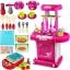 ชุดโต๊ะครัวกระเป๋าหิ้ว New Kitchen Set ส่งฟรีสีชมพุ thumbnail 1