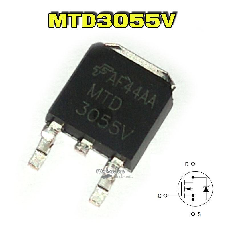 5 x mtd3055 V Power MOSFET 60v mtd3055v motorola D-Pak 5pcs