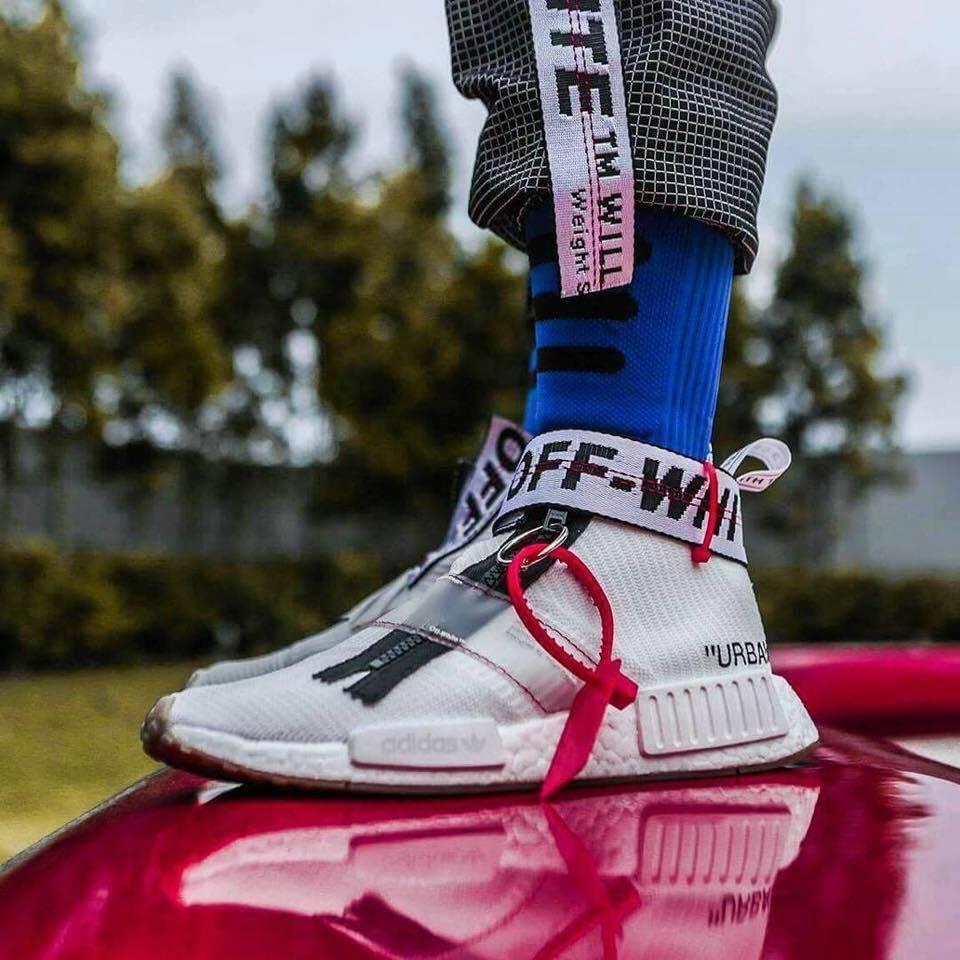 รองเท้าแฟชั่น City Sock X Off-White