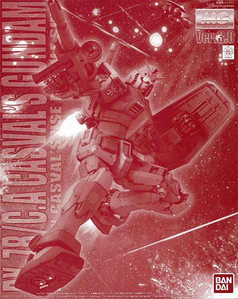 Bandai Limited MG Rx 78 C.A Casvals Gundam Ver.3.0