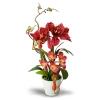 แจกันดอกไม้ประดิษฐ์ ว่านสี่ทิศ Amaryllis สีแดงหมายถึงมีความสำเร็จในหน้าที่การงานเป็นอย่างดี
