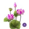 Artificial Lotus Flowers จำหน่ายดอกบัวประดิษฐ์ เป็นชุด เป็นช่อ เป็นดอกบัวหลวงปลอมขนาดใหญ่ (เท่าดอกบัวจริง) จำนวน 1 ชุด ลูกค้านิยมซื้อไปทำบุญถวายวัด ถวายพระ หรือประดับโต๊ะหมู่บูชา