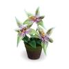 แจกันดอกไม้ประดิษฐ์ โอดอนโทกลอสซัม สีเขียวอ่อน ขนาดกระทัดลัดเหมาะสำหรับตกแต่งโต๊ะ หรือมุมส่วนตัวต่างๆให้ดูเป็นธรรมชาติสวยงาม