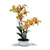 Artificial flower arrangement : แจกันดอกไม้ประดิษฐ์ ดอกกล้วยไม้เดนโดรเบียม Dendrobium สีเหลือง ในแจกันเซรามิค จากโรงงานผู้ผลิตโดยตรง