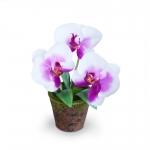 แจกันดอกไม้ประดิษฐ์ ฟาแลนนอฟซิส สีขาวครีมออร์คิท ขนาดกระทัดลัดเหมาะสำหรับตกแต่งโต๊ะ หรือมุมส่วนตัวต่างๆให้ดูเป็นธรรมชาติสวยงาม