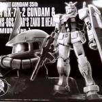P-Bandai : Mobile Suit Gundam 35th Gundam & Char's Zaku Head (Premium Ver.)