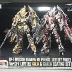 HGUC 1/144 Unicorn Gundam Unit 3 Phenex (Destroy Mode) Ver.GFT Limited Gold & Silver Coating Set