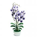 แจกันดอกไม้ประดิษฐ์ แวนด้า Vanda สีน้ำเงิน ในแจกันเซรามิค ของขวัญวันเปิดร้านใหม่