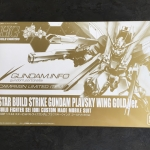 1/144 HGBF Star Build Strike Gundam Plavsky Wing Gold Ver. 「Gundam Mid Year Campaign 2014」