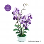 แจกันดอกไม้ประดิษฐ์ แวนด้า Vanda สีม่วง ในแจกันเซรามิค จากโรงงานผู้ผลิตโดยตรง
